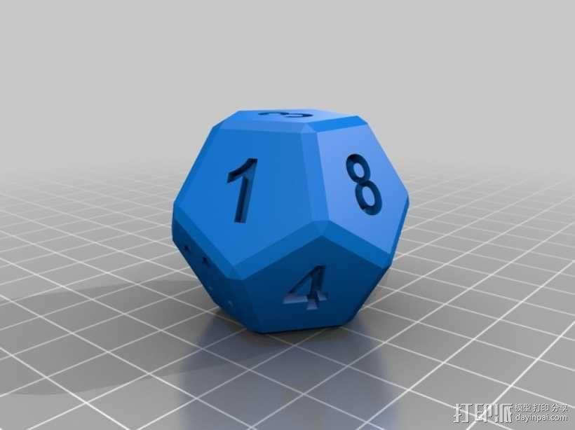 算数练习骰子模型 3D模型  图2