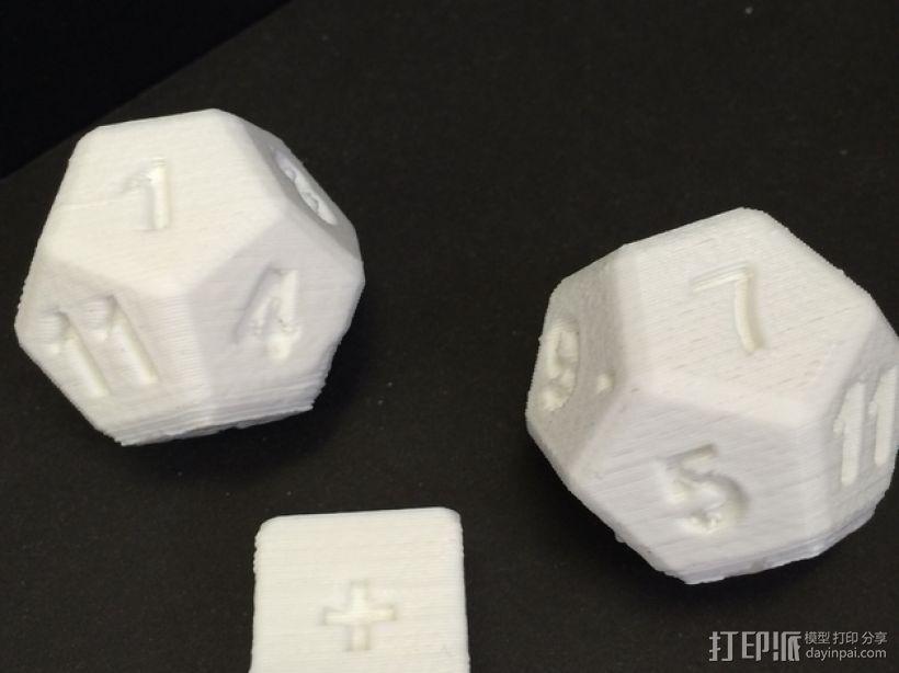 算数练习骰子模型 3D模型  图4