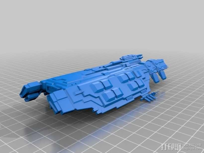 星战前夜:德雷克巡洋舰 3D模型  图1