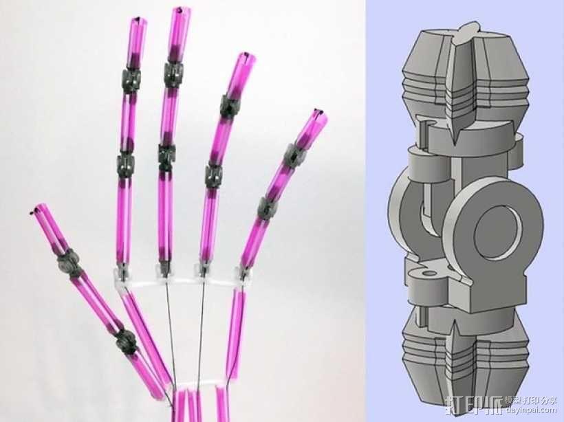 吸管做成的弹簧铰链 3D模型  图1