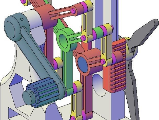施密特偏心联轴器模型 3D模型  图2