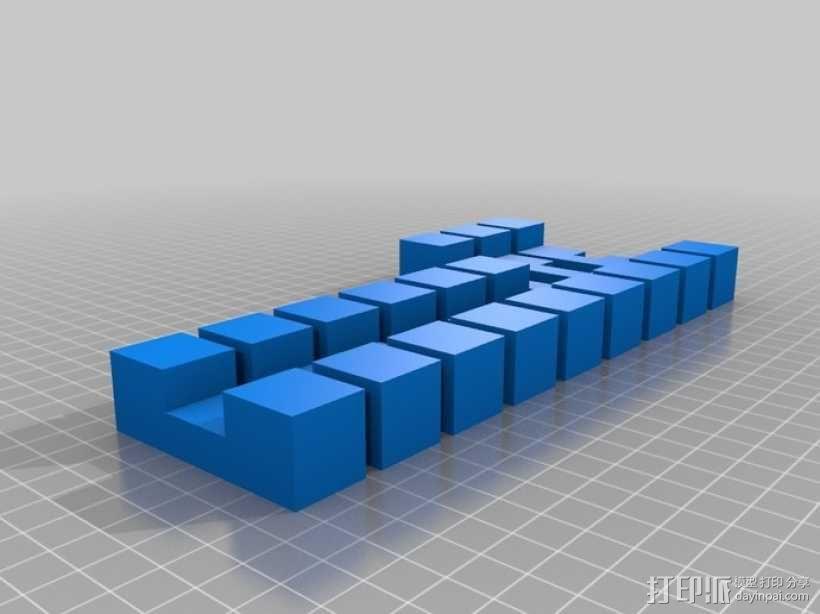 迷你日式宝塔模型 3D模型  图2