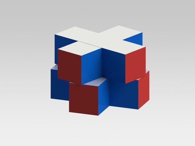迷你十字立方体 3D模型  图1
