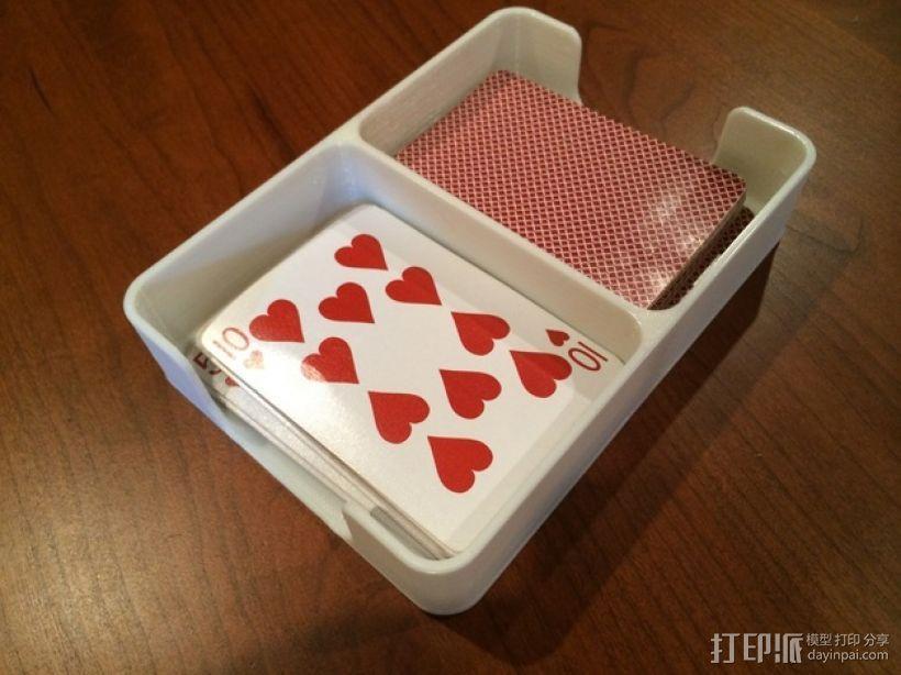 扑克牌收纳盒模型 3D模型  图1