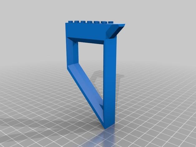 乐高玩具船墙角固定架模型 3D模型  图2