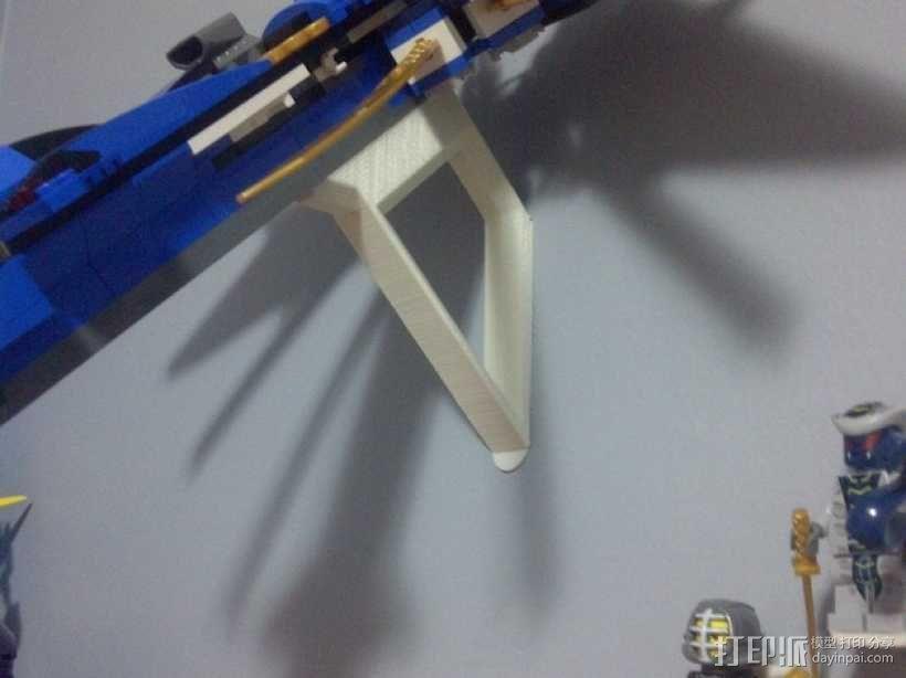 乐高玩具船墙角固定架模型 3D模型  图1