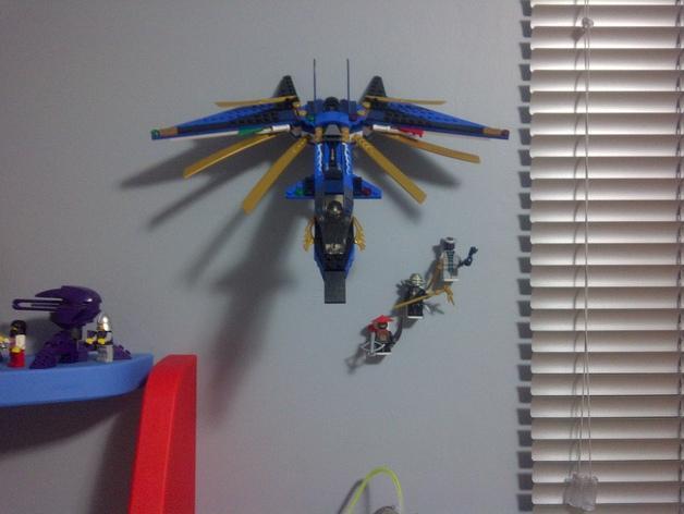 乐高玩具船墙角固定架模型 3D模型  图3
