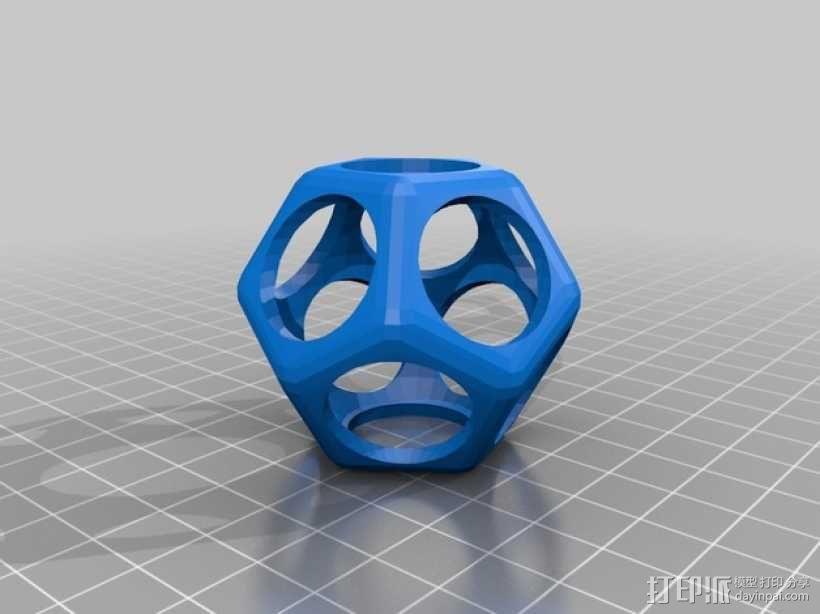 十二面体镂空立方体模型 3D模型  图2