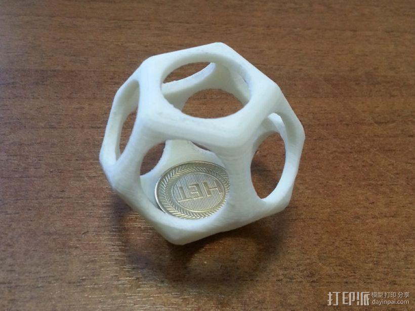 十二面体镂空立方体模型 3D模型  图1