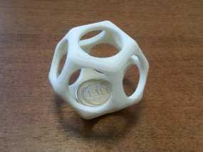 十二面体镂空立方体模型 3D模型