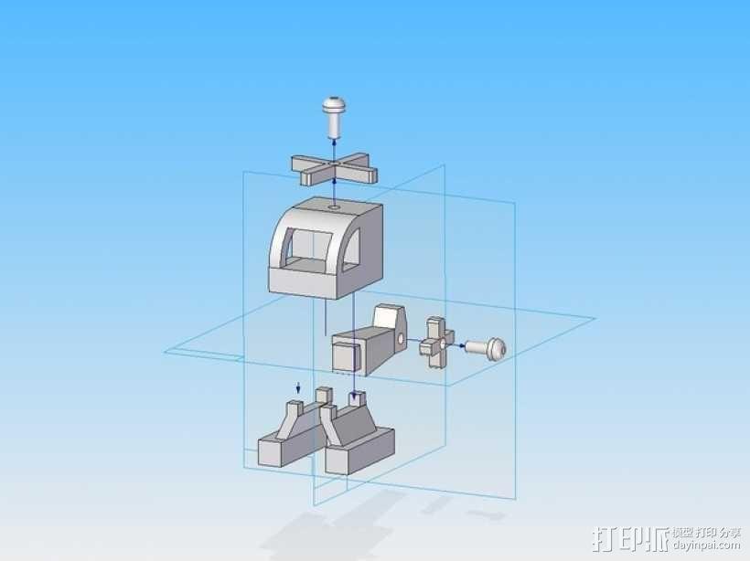 旋翼直升飞机玩具 3D模型  图11