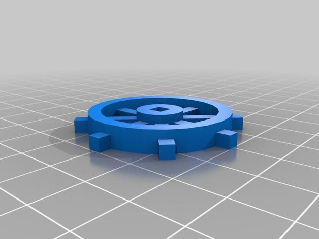 迷你船只舵轮模型 3D模型  图1