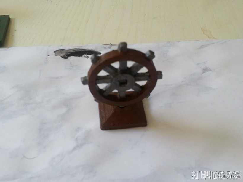 迷你船只舵轮模型 3D模型  图4