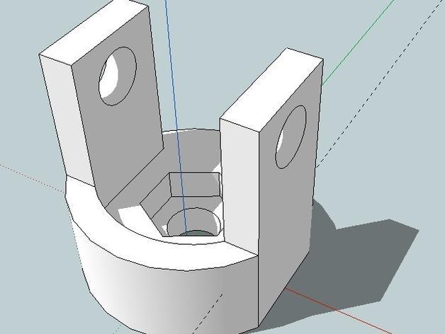 波比车配适器模型 3D模型  图1
