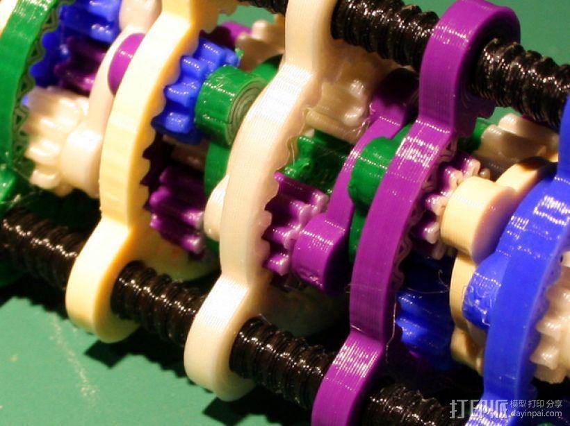 行星齿轮螺丝套件模型 3D模型  图2