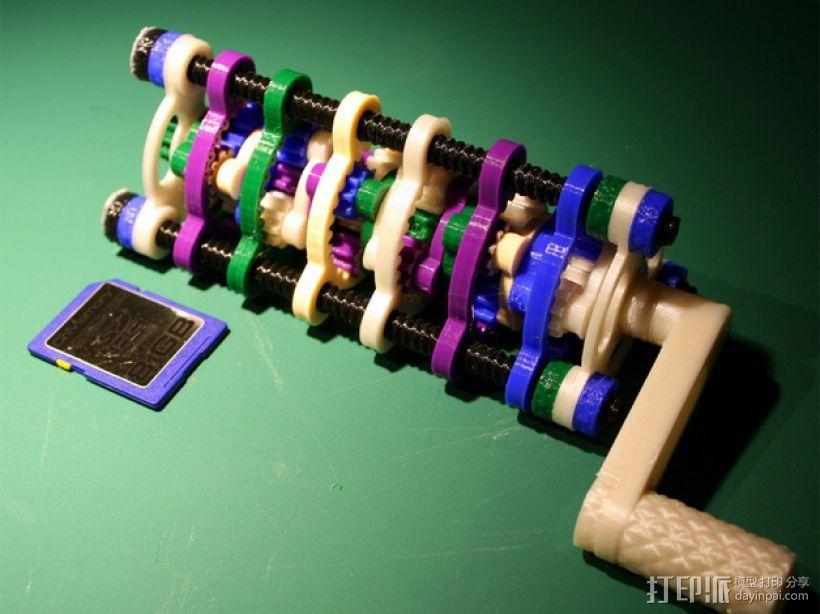 行星齿轮螺丝套件模型 3D模型  图3