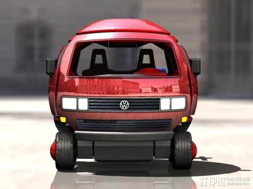 迷你大众T3玩具车模型 3D模型  图1