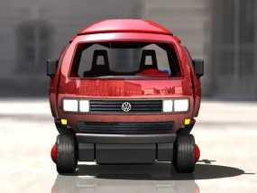 迷你大众T3玩具车模型 3D模型