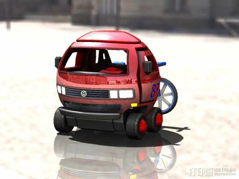 迷你大众T3玩具车模型 3D模型  图2