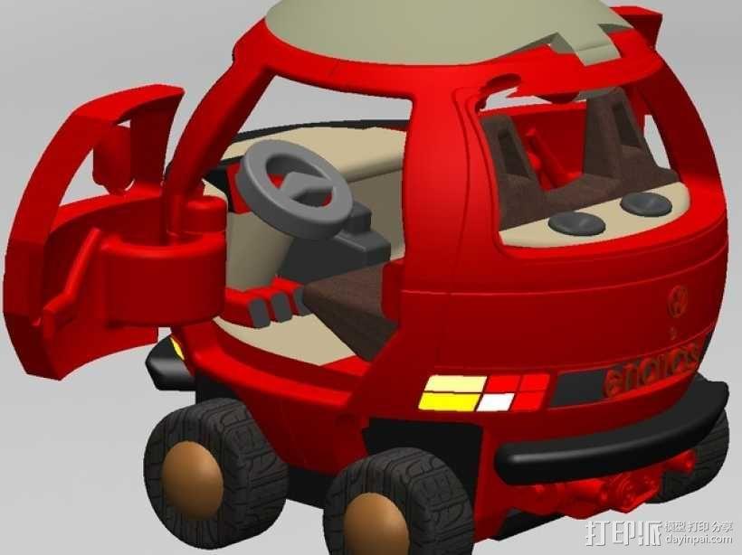 迷你大众T3玩具车模型 3D模型  图4