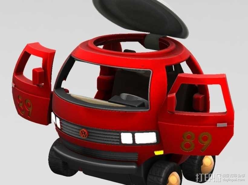 迷你大众T3玩具车模型 3D模型  图3