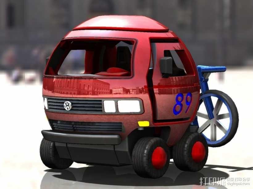 迷你大众T3玩具车模型 3D模型  图8
