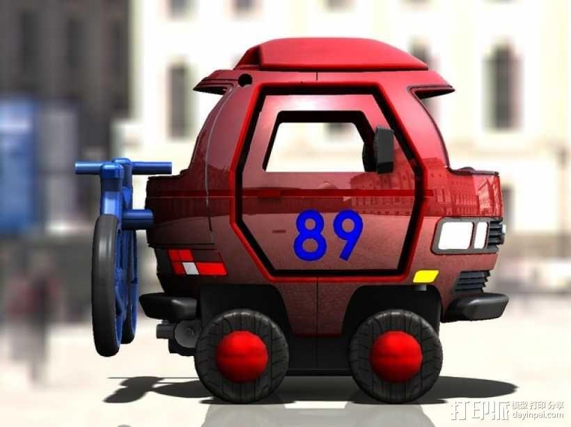 迷你大众T3玩具车模型 3D模型  图5
