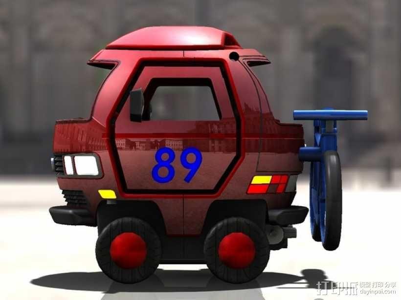 迷你大众T3玩具车模型 3D模型  图10