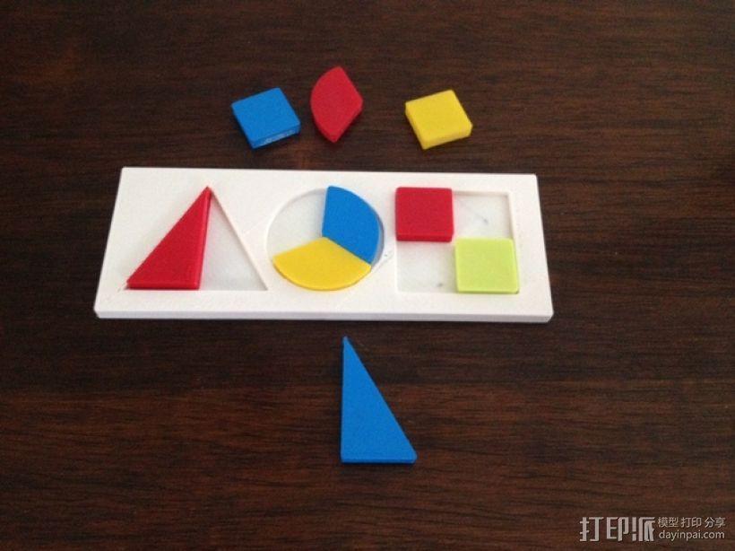 彩色简易拼图模型 3D模型  图2