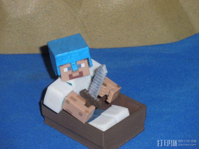Minecraft人物玩偶船模型 3D模型  图1
