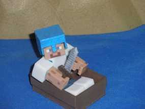 Minecraft人物玩偶船模型 3D模型