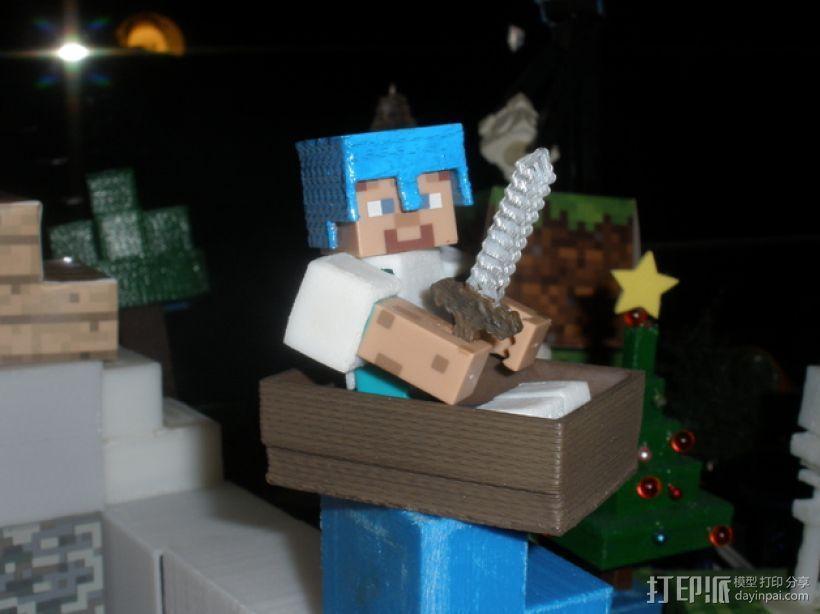 Minecraft人物玩偶船模型 3D模型  图3