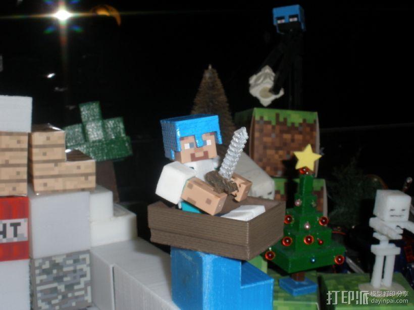 Minecraft人物玩偶船模型 3D模型  图6