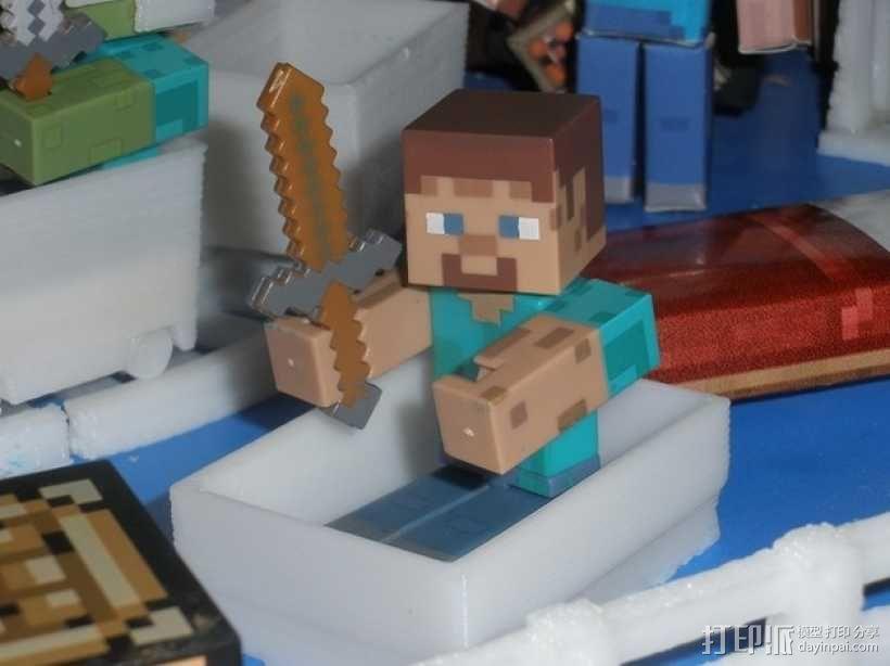 Minecraft人物玩偶船模型 3D模型  图4