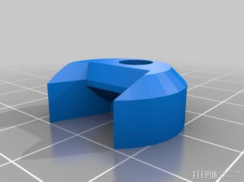 "X翼战机:""千年隼号""助力器模型 3D模型  图2"