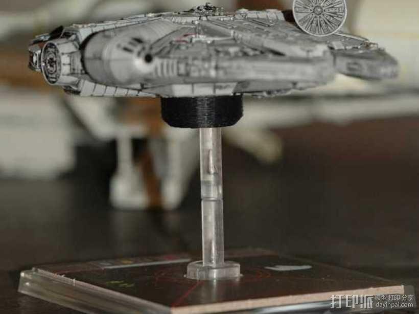 "X翼战机:""千年隼号""助力器模型 3D模型  图8"