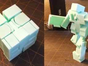 BlockBot v2机器人玩偶 3D模型
