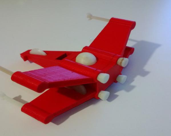 迷你翼战斗机模型 3D模型  图2