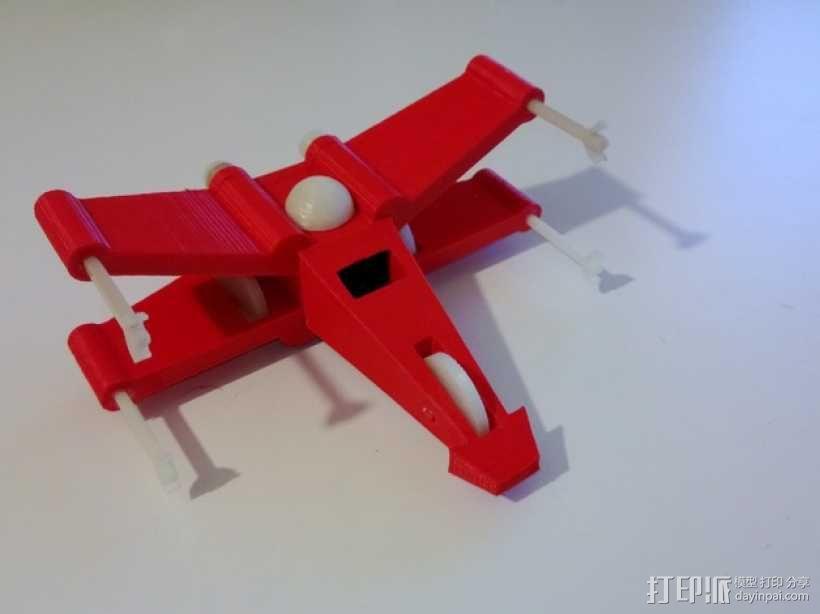 迷你翼战斗机模型 3D模型  图1