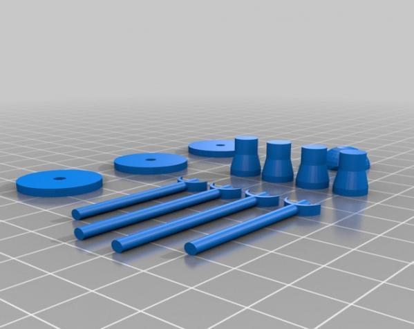 迷你翼战斗机模型 3D模型  图5