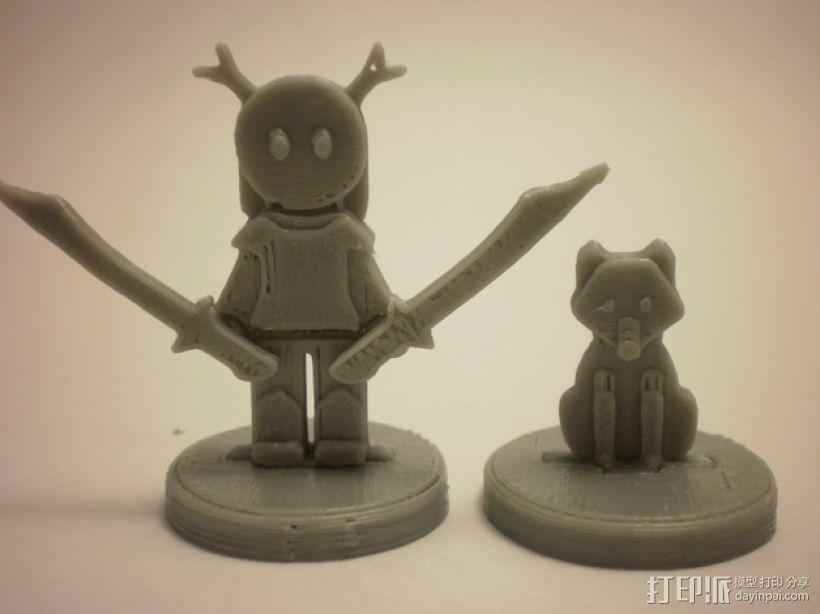 FlatMinis:德鲁伊  3D模型  图1