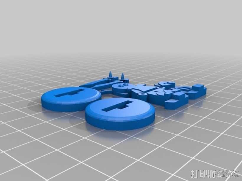 FlatMinis:德鲁伊  3D模型  图6