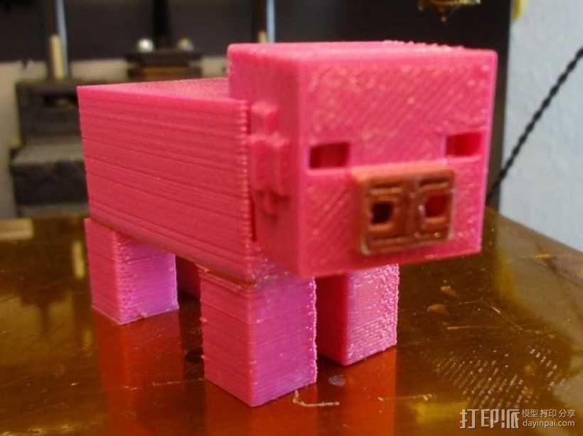 Minecraft:迷你成年猪 3D模型  图1
