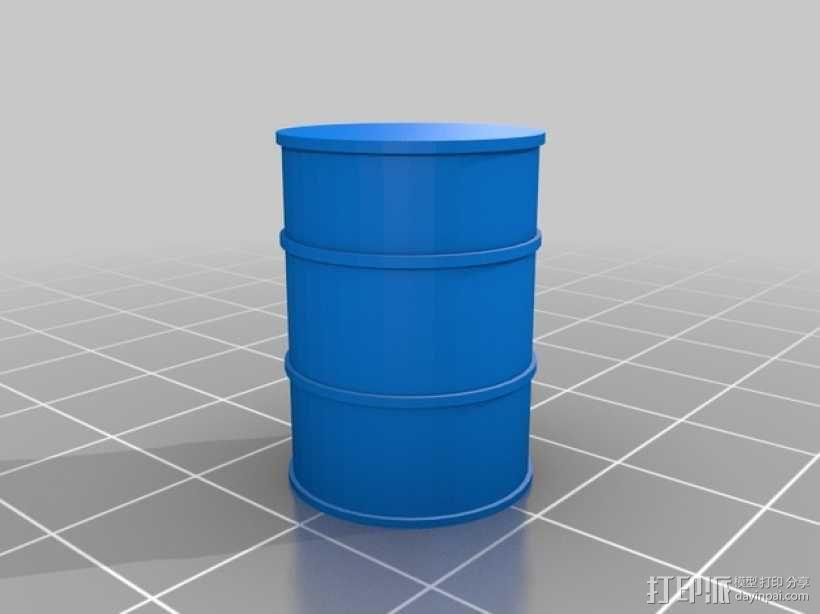 拖车板牙回收站模型 3D模型  图2