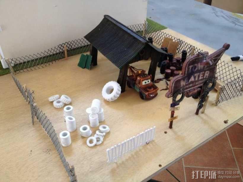 拖车板牙回收站模型 3D模型  图6
