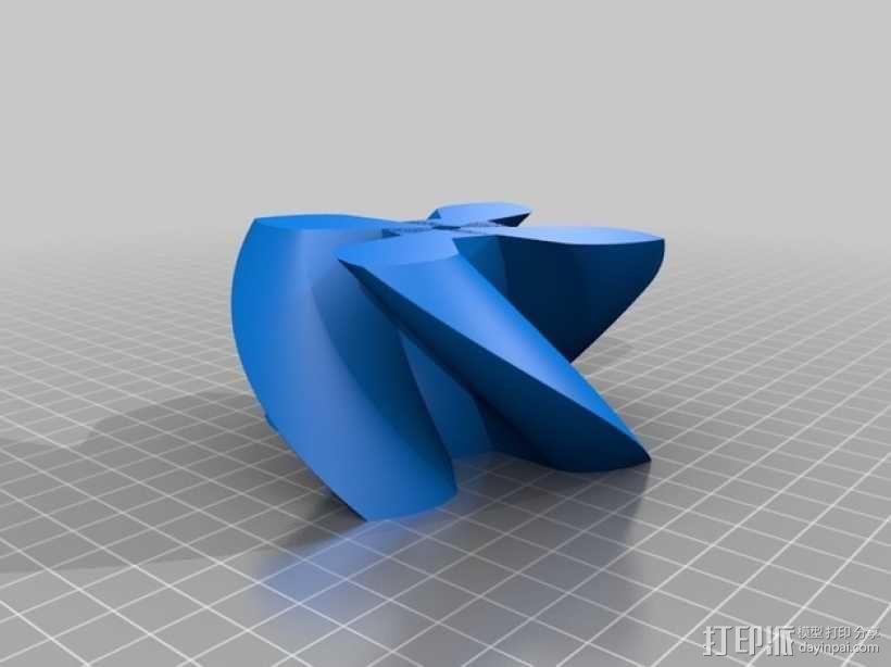 圆形正/斜齿轮模型 3D模型  图3