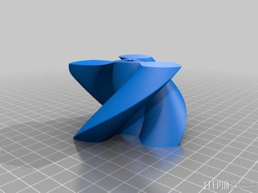 圆形正/斜齿轮模型 3D模型  图4