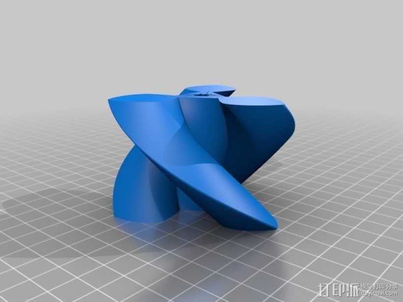 圆形正/斜齿轮模型 3D模型  图6