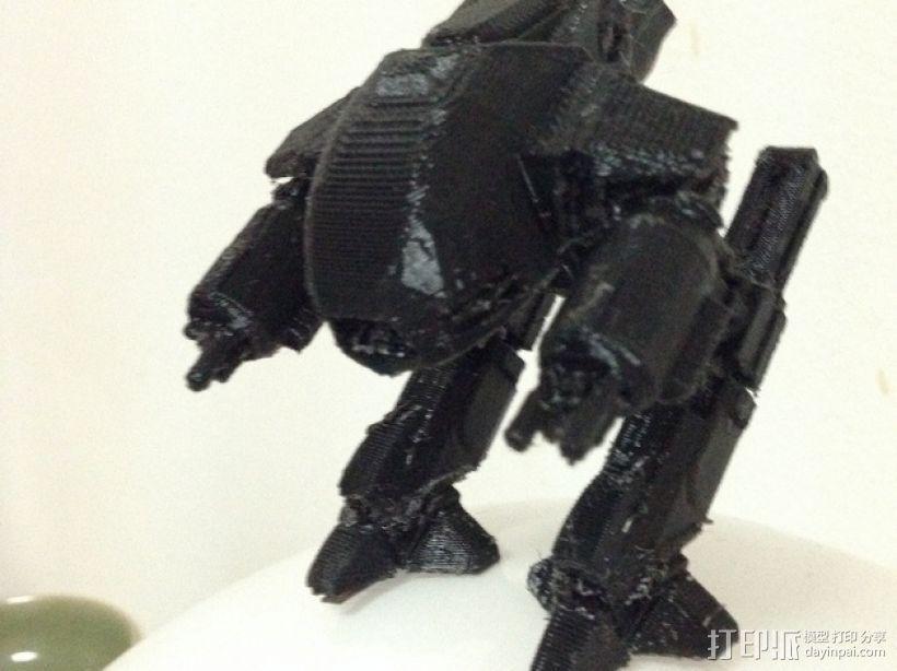 机械战警:ED-209机器人 3D模型  图1