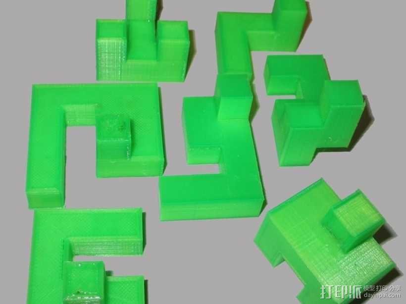 立方体拼图模型 3D模型  图1